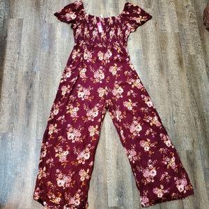 NWT Xhilaration Target floral jumpsuit romper
